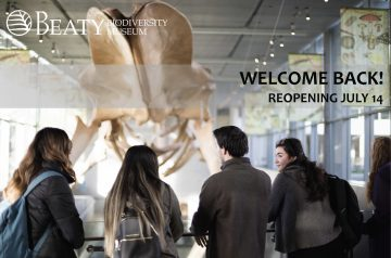 We welcome you back to the Beaty Biodiversity Museum!